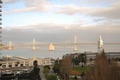 San Francisco Bay Bridge, Clock Tower, Embarcadero walk, Ferry Building Stock Image