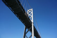 San Francisco Bay Bridge close up from underneath Stock Photos