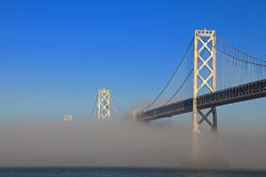 San Francisco Bay Bridge Misted Over Stock Photo