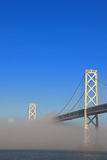 San Francisco Bay Bridge Misted Over Royalty Free Stock Photo