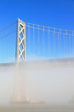 San Francisco Bay Bridge Misted Over Royalty Free Stock Images