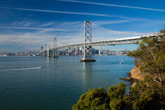 San Francisco Bay bridge Royalty Free Stock Photo