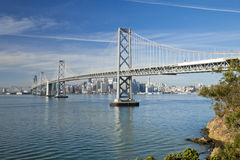 San Francisco and Bay bridge Royalty Free Stock Photo