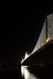 San Francisco Bay Bridge at Night Royalty Free Stock Image