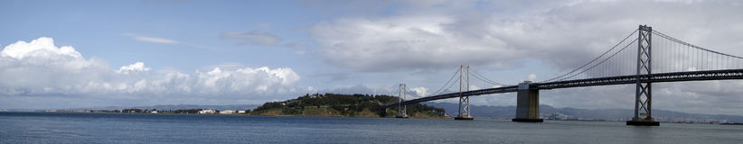 San Francisco Bay Bridge Panoramic Royalty Free Stock Photo