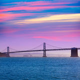 San Francisco Bay bridge from Pier 7 California Royalty Free Stock Image