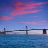 San Francisco Bay bridge from Pier 7 California Stock Photography