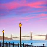 San Francisco Bay bridge from pier 7 California Royalty Free Stock Photos