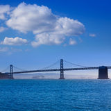 San Francisco Bay bridge from Pier 7 California Stock Images