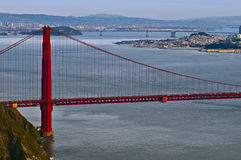 San Francisco Bay Bridges, California Royalty Free Stock Photos