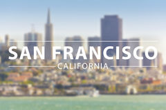 San Francisco. Bay, city with text sign Stock Image