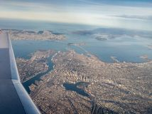 San Francisco Bay climb out royalty free stock photos