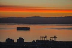 San Francisco Bay Colorful Dawn Royaltyfri Foto