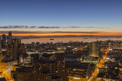 San Francisco Bay Early Morning Glow Fotografia de Stock