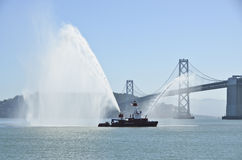 San Francisco Bay Fire Boat Stock Photos