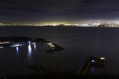 San Francisco Bay från fortbagare royaltyfri bild