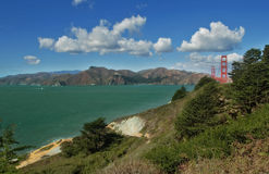 San Francisco bay and Golden Gate Bridge. Royalty Free Stock Photography