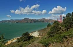 San Francisco bay and Golden Gate Bridge. View on San Francisco bay and Golden Gate Bridge in California, USA Royalty Free Stock Photography