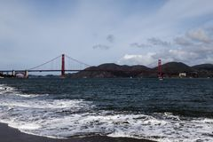 San Francisco Bay And Golden Gate Bridge Stock Photo
