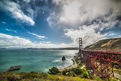 San Francisco bay with Golden Gate bridge. California Royalty Free Stock Image