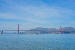 San Francisco Bay with the Golden Gate Bridge. Landscape of the San Francisco Bay with the Golden Gate Bridge in background Stock Photography