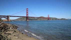 San Francisco Bay and Golden Gate Bridge stock video footage