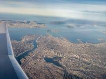 San Francisco Bay klättring ut royaltyfria foton