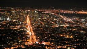 San Francisco Bay at  Night stock video