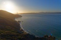 San Francisco Bay no nascer do sol fotografia de stock