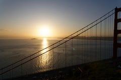San Francisco Bay på soluppgång Royaltyfri Bild