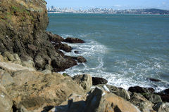 San Francisco Bay Rocks. Rocks across San Francisco bay Royalty Free Stock Photos