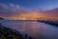 San Francisco Bay sikt från skattön Arkivfoto