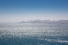 San Francisco bay skyline panorama Stock Image