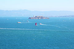San Francisco Bay, visión hacia Alcatraz Fotos de archivo libres de regalías