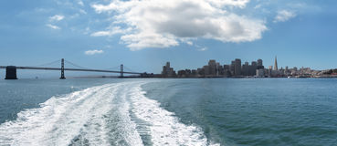 San Francisco bay from the water Royalty Free Stock Photo