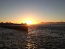 San francisco bay water view ocean sunset golden gate stock photo