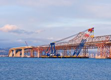 San- Francisco Baybrücken-Aufbau Stockfoto
