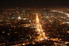 San Francisco bij nacht Stock Fotografie