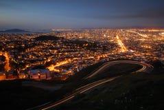 San Francisco bij nacht Royalty-vrije Stock Foto's