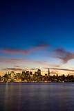 San Francisco bij schemer. Stock Fotografie