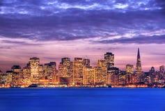 San Francisco bij schemer HDR Royalty-vrije Stock Foto