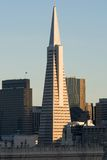 San Francisco bij zonsondergang Royalty-vrije Stock Foto
