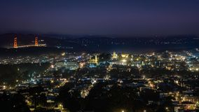 San Francisco bis zum Nacht Stockfotos