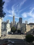SAN FRANCISCO, THE BLUE SKY AND THE SKYLINE royalty free stock photos