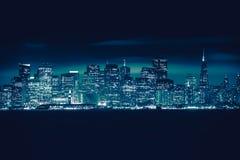 San Francisco Blue Skyline Imágenes de archivo libres de regalías