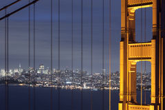 San Francisco through the Bridge Stock Photos