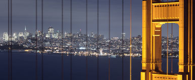 San Francisco through the Bridge Stock Photo