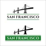 San Francisco Bridge. San Francisco - Oakland Bay Bridge vector illustration. California. San Francisco Business Center Royalty Free Stock Image