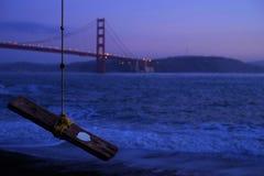 San Francisco Bridge on Sea Water Royalty Free Stock Image