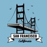 San Francisco Bridge vector poster Royalty Free Stock Image